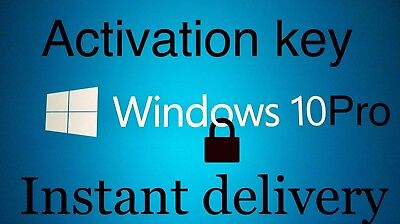Microsoft Windows 10 Pro Professional 32 64 bit LICENSE KEY INSTANT Delivery