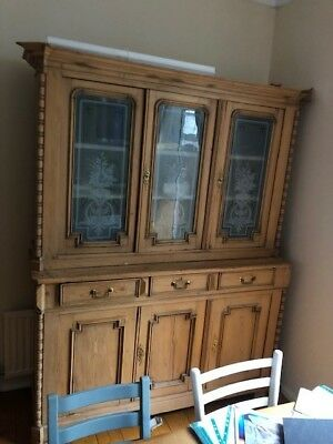 Large Victorian Vintage Dresser (Furniture Antique Sideboard Dresser)