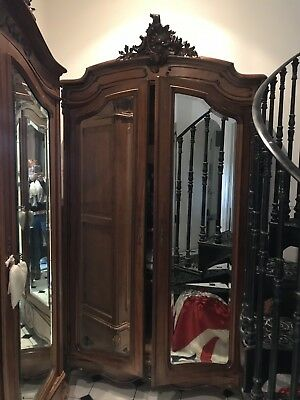 Gorgeous large Original French Recocco armoire wardrobe Quality