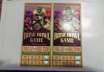 Rose Bowl Game: January 1, 2019: Ohio State vs Washington: 2 Tickets
