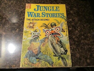 Jungle War Stories #10  Very Nice Painted Cover Dell VG 1965