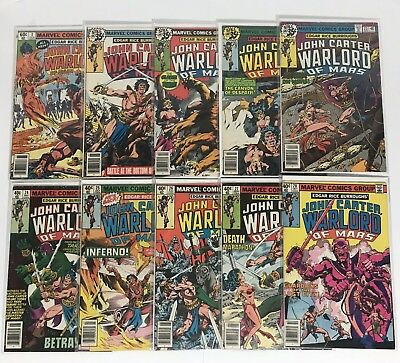 John Carter Warlord Of Mars 20-28+#3 Marvel 1979 Comic Book Lot