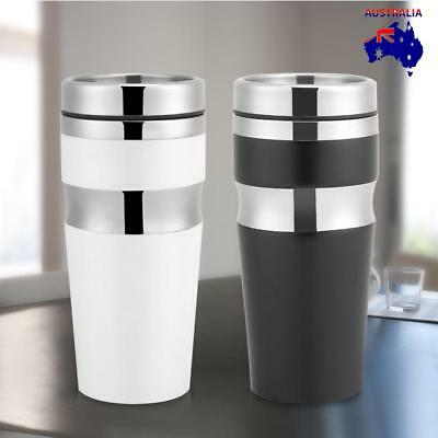 430ML Fashion Stainless Steel Travel Mug With Lid Water Coffee Tea Cup Bottle AU