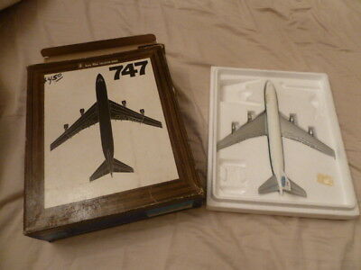 RARE 1970s AERO MINI American Airlines Boeing 747 w/Box Diecast Model Airplane