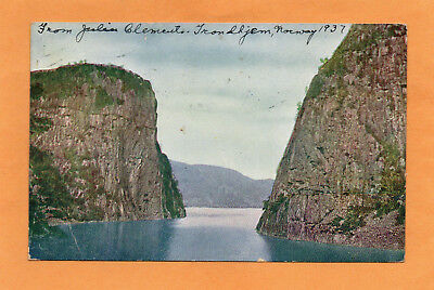 Trondhjem Norway 1923 Postcard Mailed to Grand Ra[ids Michigan Rural Carrier