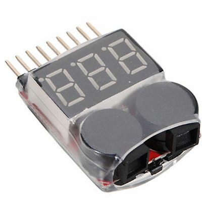 1-8S Battery Voltage 2IN1 Tester Low Stromspannung Buzzer Alarm AHS