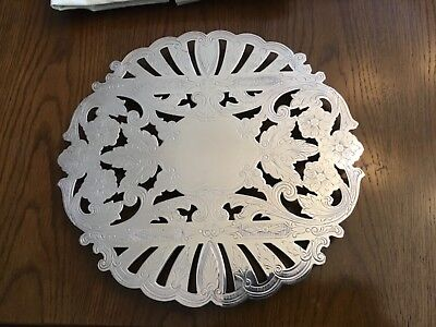 Wallace Silver Plate Etched Trivet