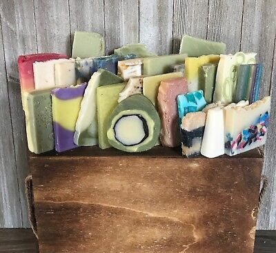 Handmade Homemade Natural Soap Ends and Odd Shapes -- 24+ Bars Over 3 Pounds