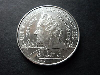 2000 £5 Five Pound Coin Queen Elizabeth Queen Mother One Hundredth Birthday A1