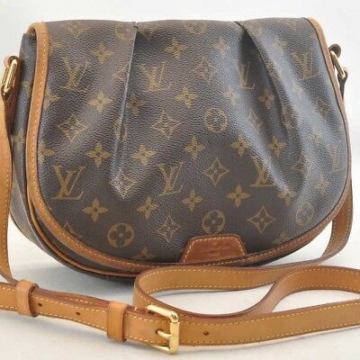 LOUIS VUITTON Menilmontant PM Shoulder Bag M40474 LV Authentic 1181