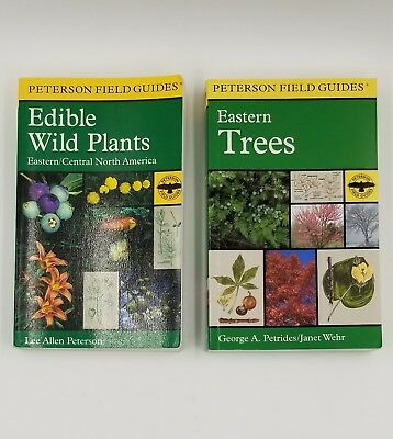 Lot Of 2 Field Guide To Edible Wild Plants & Edible Wild Plants - Peterson,lee A