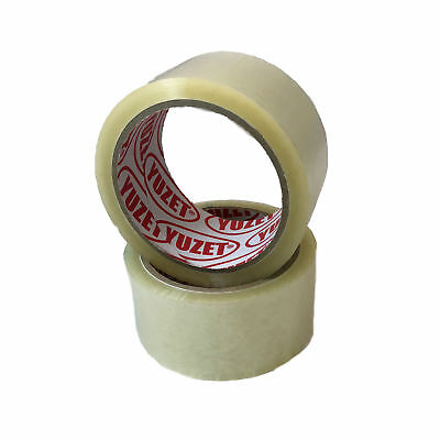 16 Rolls Yuzet Clear Packaging Tape 48mm x 50m Carton Box Sealing Packing