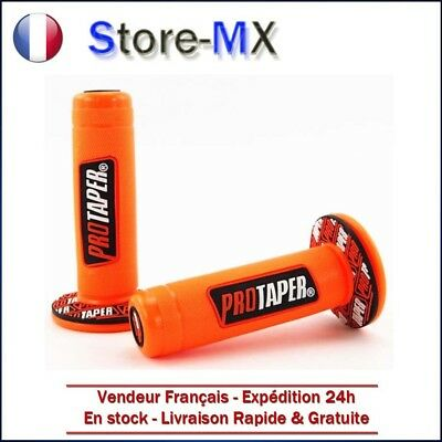 Paire de poignées Pro Taper Orange pour Moto-cross quad dirt bike enduro