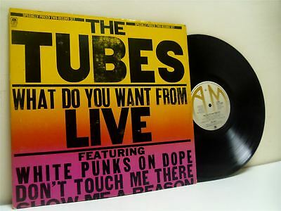 THE TUBES what do you want from live (1st uk press) DOUBLE LP EX-/EX- AMLM 68460