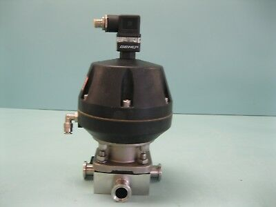 "3/4"" Gemu SS 3-Way Sanitary Actuated Diaphragm Valve F18 (2373)"
