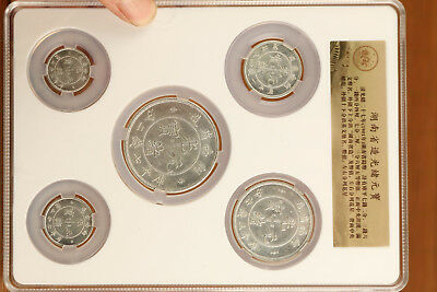 5 China copper Silver Collection qing Hu nan Coins decoration