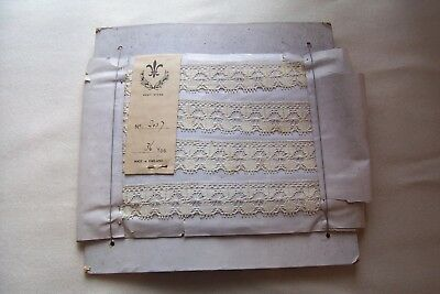 Vtg Early 1900's English Cotton Lace 2 Yards 4 Antique Doll Dress Petticoat