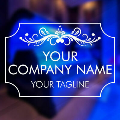 D201 Beauty Salon Hairdresser Window Stickers Personalised Company Name Custom