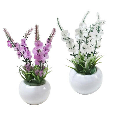 Artificial Fake Silk Flower With Vase Pot Silk Potted Arrangement For Home