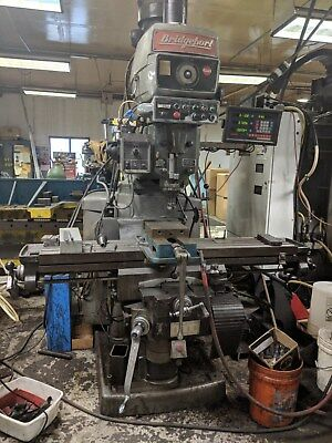 "BRIDGEPORT SERIES 2 MANUAL MILL w/ 3-Axis Powerfeeds & DRO 11""x58""-Table"