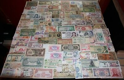 Lot of 100+ Vintage Mixed Foreign World Currency Paper Money   #8