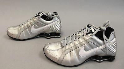 e2adb880e94f Nike Women s Lace Up Shox Junior Shoes HD3 Metallic Silver 454339-018 Size  8.5