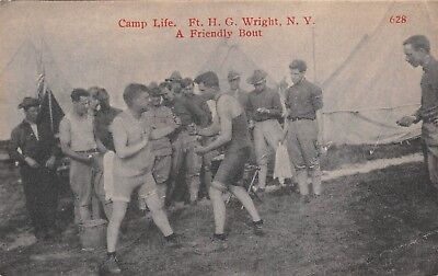 FISHER'S ISLAND, NY, CAMP LIFE WITH BOXING AT FORT WRIGHT,THOMPSON PUB c 1907-14