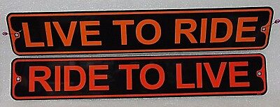 HARLEY DAVIDSON motorcycles LIVE TO RIDE  RIDE TO LIVE signS $19.95 free ship