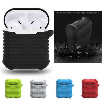 Shockproof Full Silicone Apple Airpods Earphones Armor Cover Case Skin AirPod