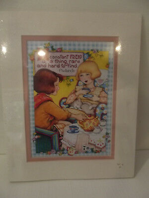 Mary Engelbreit Matted Print -  Constant Friend 8x10 Sealed