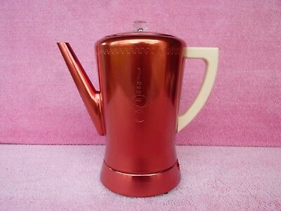 Vtg 50s West Bend Flavo-matic Automatic 8-Cup Percolator Coffee Pot Maker
