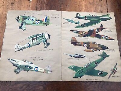1950s boys aviation scrap book ! great ww2 planes and lots of great pictures !