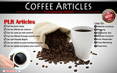 300+ PLR Articles on Coffee Niche Private Label Rights