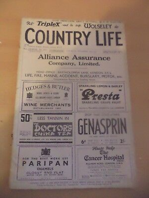 COUNTRY LIFE OLD ANTIQUE 1930s MAGAZINE nov 1935 peterhouse cambridge burghley