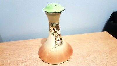 Vintage Royal Doulton Dickens Ware Hat Pin Stand. D2973.Sam Weller. Some Damage.