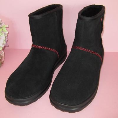 feb2f716efe UGG I HEART Uggs Black Ankle Boot Women's Size 8 NEW