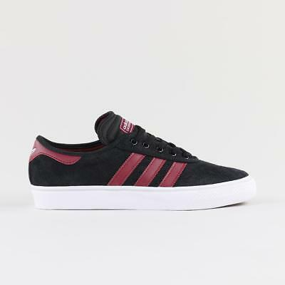 size 40 be134 9aaed Adidas Skateboarding Men s Adi Ease Premiere Shoes Trainers Black Burgundy  White