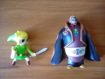 The Legend of Zelda Wind Waker Ganondorf & Link World of Nintendo Action Figures