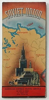 SOVIET UNION travel guide with map. 1939.