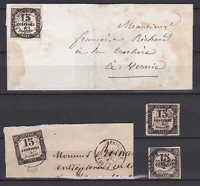 Lot Taxe N° 3 Obl / Lettres Et Timbres