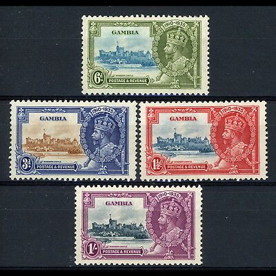 GAMBIA 1935 Silver Jubilee. SG 143-146. Lightly Hinged Mint. (AX506)