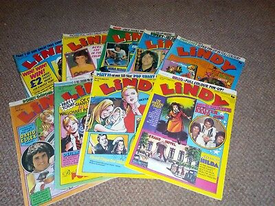 Collection Of Lindy Comics 1975 The Bay City Rollers,davis Essex