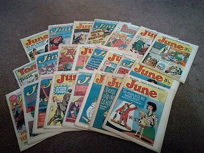 Large Collection Of 1970's Girl Comics Jinty,tammy,june