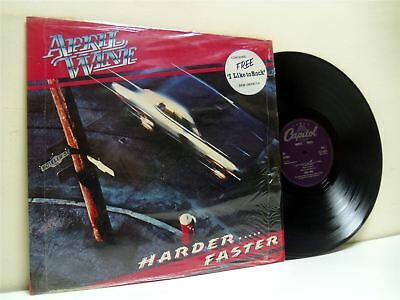 APRIL WINE harder faster (1st uk press with sew on patch) LP EX+/EX E-ST-12013