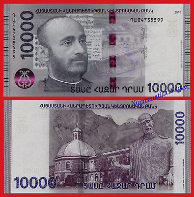 ARMENIA 10000 Dram 2018 Pick NEW  SC / UNC