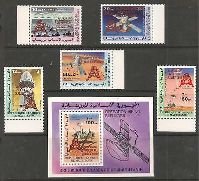 Sc 425,25,C192-95 Apollo 11 with SCARCE RED Overprint VF MNH