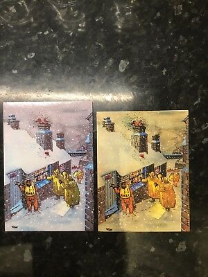 GILES XMAS RNLI CARD Right  Of picture Card