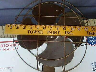 """Vintage Mid Century 12""""  Kenmore 4 Blade Oscillating Fan With Cast Iron  Base"""