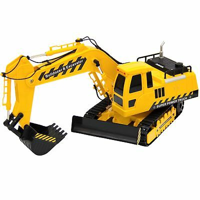 Best Choice Products 27MHz 1:18 RC Excavator Bulldozer Kids Remote Control Toy T