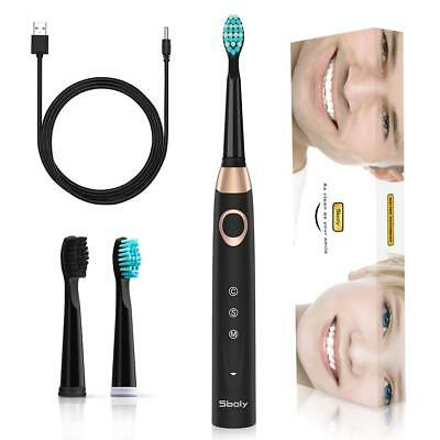 Sonic Electronic Toothbrush with 3 Optional Modes, 4 Hours Fast Charge 30 Days U